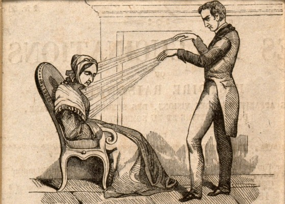 V0011094 A practictioner of Mesmerism using Animal Magnetism